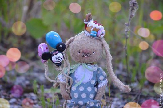 Мишки Тедди ручной работы. Ярмарка Мастеров - ручная работа. Купить Зайка сладенький. Handmade. Зайка, мишка тедди