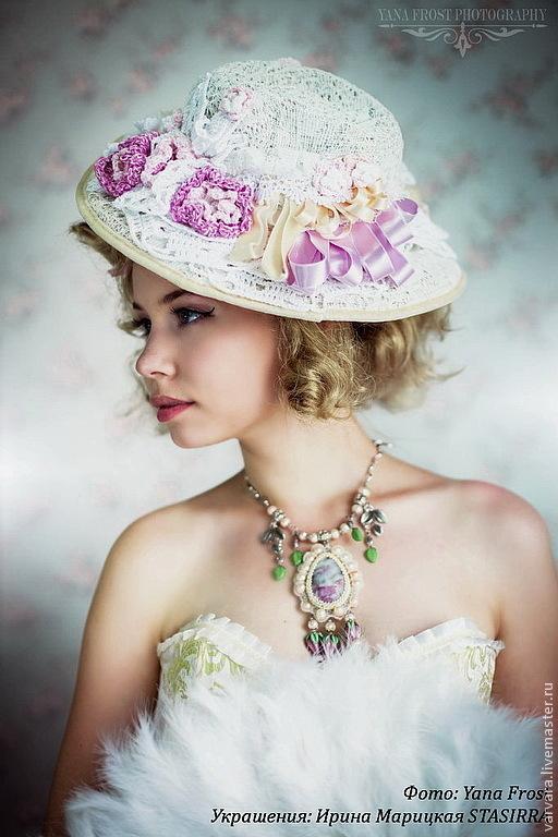 Шляпы ручной работы. Ярмарка Мастеров - ручная работа. Купить Французская шляпка. Handmade. Шляпа, шляпа белая, свадебные аксессуары
