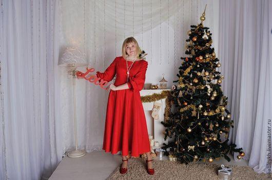 """Платья ручной работы. Ярмарка Мастеров - ручная работа. Купить Платье """"Bella"""". Handmade. Ярко-красный, платье по фигуре"""
