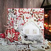 Открытки handmade. Livemaster - original item !Postcard Winter dreams. Handmade.