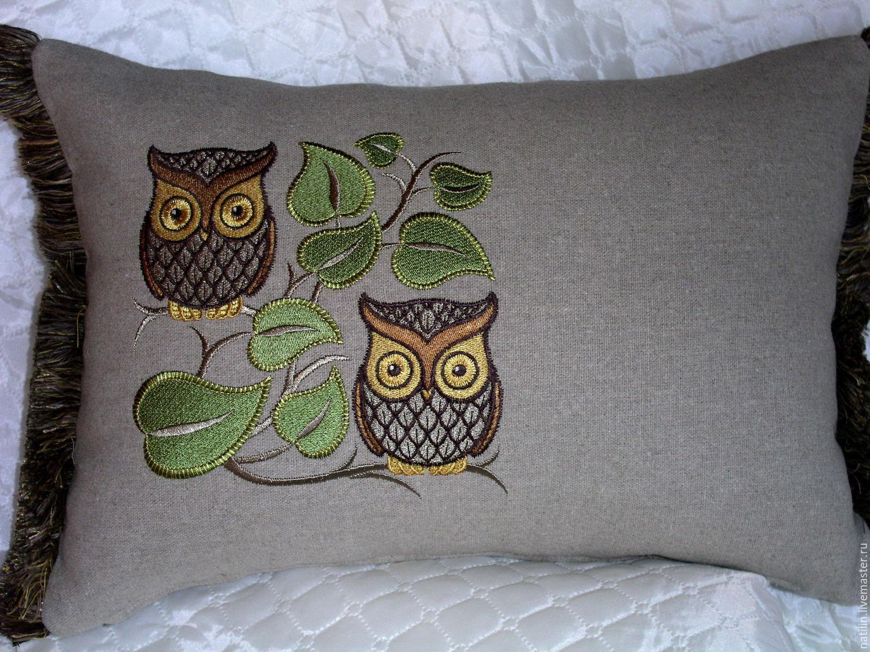 Ручная вышивка подушек