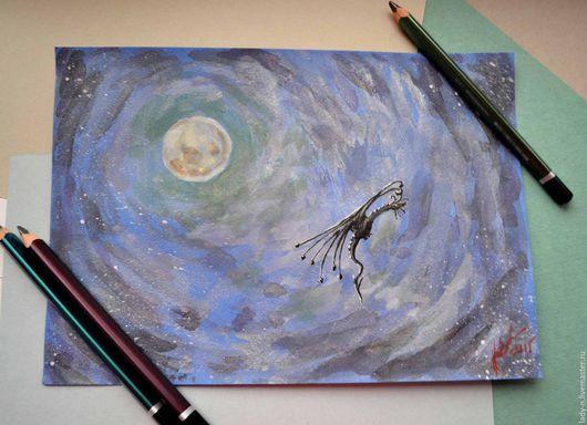 `Одиночество`, картина, смешанная техника