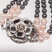 handmade. Livemaster - original item pearl choker necklace pearl mother of pearl flower. Handmade.