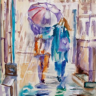 Картины и панно ручной работы. Ярмарка Мастеров - ручная работа Цветной дождь. Handmade.