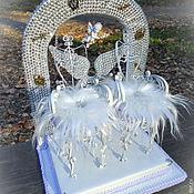 Свадебный салон ручной работы. Ярмарка Мастеров - ручная работа Подушечка для колец Дикий ангел. Handmade.