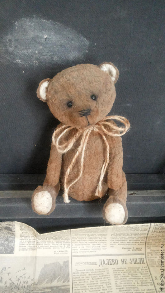 Мишки Тедди ручной работы. Ярмарка Мастеров - ручная работа. Купить Ванечка. Handmade. Коричневый, мишка ручной работы