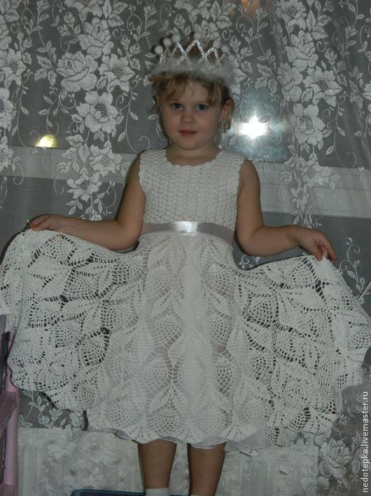Одежда для девочек, ручной работы. Ярмарка Мастеров - ручная работа. Купить белое платье. Handmade. Детское платье, подклад из шифона