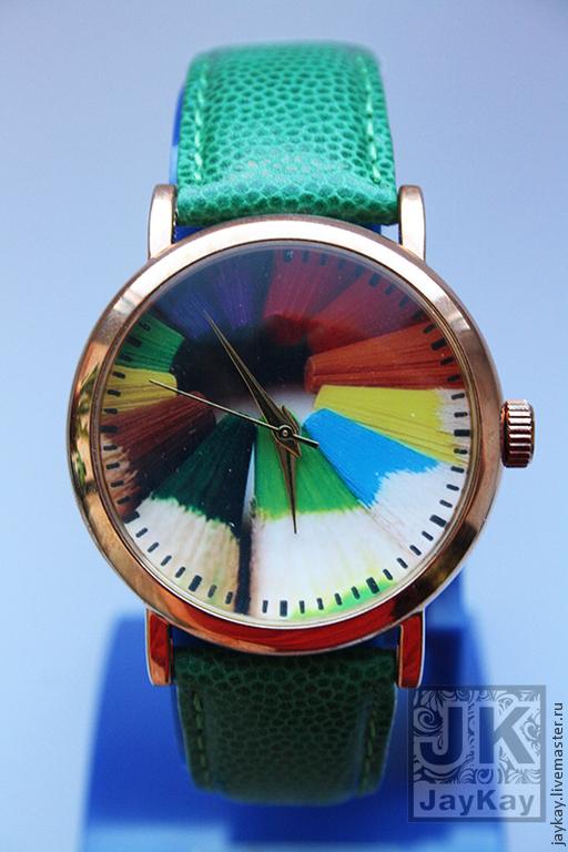 """Часы ручной работы. Ярмарка Мастеров - ручная работа. Купить Часы наручные JK """"Карандаши"""". Handmade. Часы наручные"""