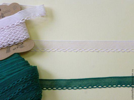 Шитье ручной работы. Ярмарка Мастеров - ручная работа. Купить Зеленое и бледно-розовое тонкое ажурное кружево арт. 8-7. Handmade.