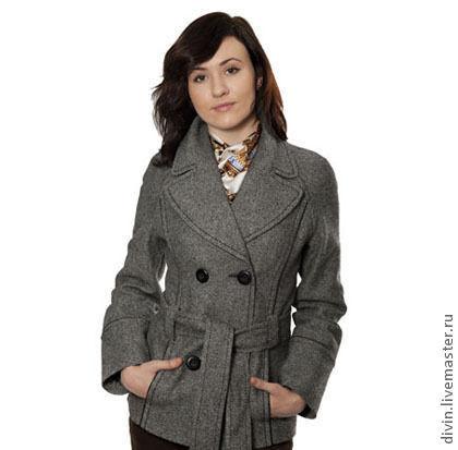 Верхняя одежда ручной работы. Ярмарка Мастеров - ручная работа. Купить Пальто Delia tweed. Handmade. Серый, пальто демисезонное