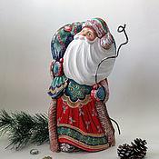 Сувениры и подарки handmade. Livemaster - original item Big wooden painted Santa Claus. Handmade.