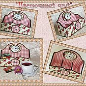 """Для дома и интерьера ручной работы. Ярмарка Мастеров - ручная работа Короб-часы для чая """" Цветочный чай"""". Handmade."""