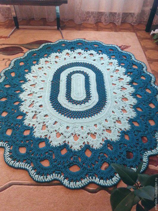 Текстиль, ковры ручной работы. Ярмарка Мастеров - ручная работа. Купить Ковер вязаный. Handmade. Комбинированный, ковер на заказ, интерьер