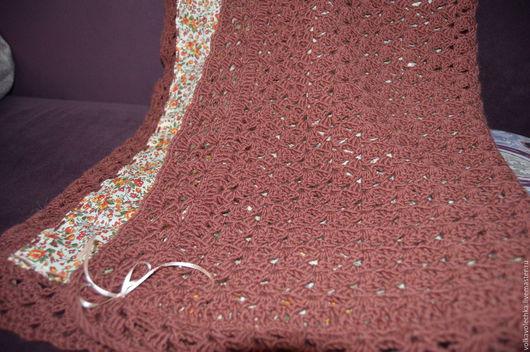 Пледы и одеяла ручной работы. Ярмарка Мастеров - ручная работа. Купить детский плед. Handmade. Бордовый, теплый подарок