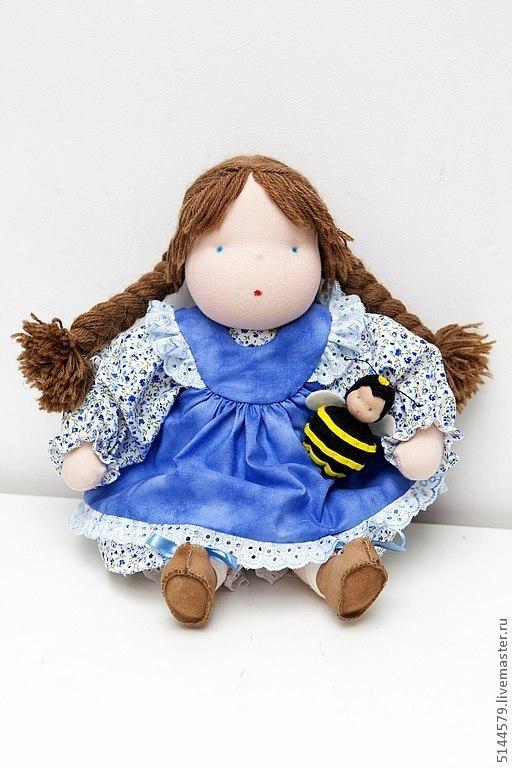 """Вальдорфская игрушка ручной работы. Ярмарка Мастеров - ручная работа. Купить Вальдорфская кукла """"Незабудка"""". Handmade. Вальдорфская кукла, голубой"""