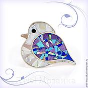 Украшения handmade. Livemaster - original item Brooch bird. Charoite, Turquoise, Lapis, Mother Of Pearl.. Handmade.