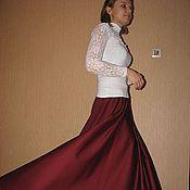 """Одежда ручной работы. Ярмарка Мастеров - ручная работа Шерстяная юбка в пол """"Бордо"""", теплая. Handmade."""