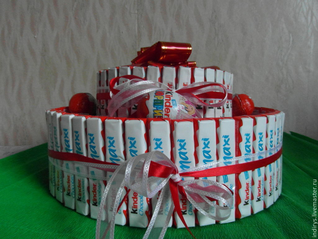 Торт из киндеров мастер класс фото