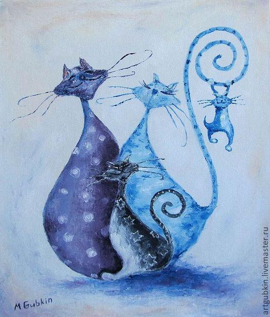 Животные ручной работы. Ярмарка Мастеров - ручная работа. Купить Котики. Handmade. Котики, коты, Кошки, картины с котами