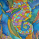 """Освещение ручной работы. Панно с подсветкой """"Морской конек"""". Юлия Ширяева (JuliaNew). Интернет-магазин Ярмарка Мастеров. Морская тема"""