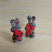 Мягкие игрушки ручной работы. Ярмарка Мастеров - ручная работа Зайцы с сердцами. Handmade.