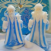 Косметика ручной работы. Ярмарка Мастеров - ручная работа Дед Мороз. новогоднее мыло дед мороз. Handmade.