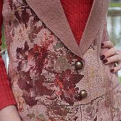 """Одежда ручной работы. Ярмарка Мастеров - ручная работа жилет валяный из шерсти мериноса """"Осень"""". Handmade."""