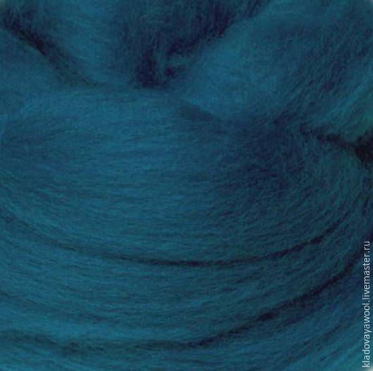Валяние ручной работы. Ярмарка Мастеров - ручная работа. Купить Меринос18мкр (Италия) цвет Залив( Bay). Handmade. Шерсть для валяния