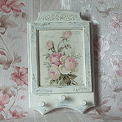 Для дома и интерьера handmade. Livemaster - original item Key holder shabby chic
