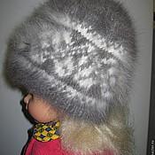 Аксессуары ручной работы. Ярмарка Мастеров - ручная работа Женская шапка из кроличьего пуха. Handmade.