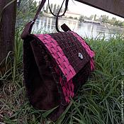 Сумки и аксессуары handmade. Livemaster - original item Bag in suede with long handle. Handmade.