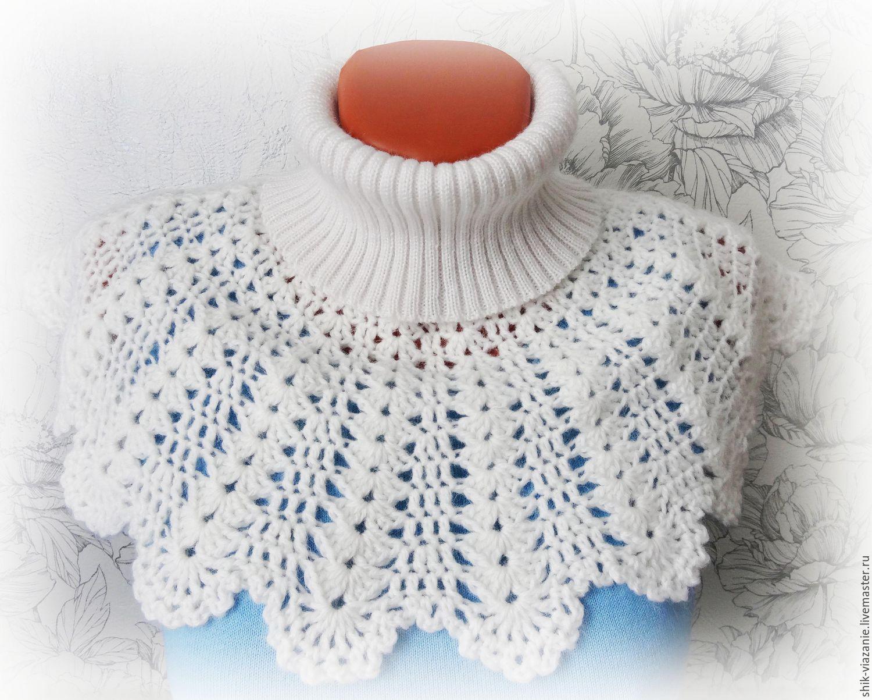 Фото схем вязание манишки