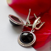Украшения handmade. Livemaster - original item Earrings with onyx,