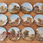 Винтаж ручной работы. Ярмарка Мастеров - ручная работа 12 коллекционных тарелок, настенные тарелки, винтаж BRADEX. Handmade.