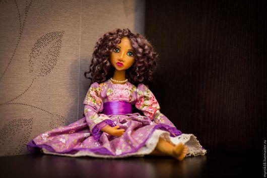 Коллекционные куклы ручной работы. Ярмарка Мастеров - ручная работа. Купить Кукла в смешанной технике Катрин. Handmade. Запекаемый пластик