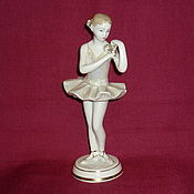 Винтаж handmade. Livemaster - original item GIRL, YOUNG BALLERINA WITH FLOWER, FLOWERS . ZFA Verbilki. A!. Handmade.