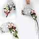 Свадебные цветы ручной работы. Букет невесты сумочка серебряная. Tanya1966. Ярмарка Мастеров. Ткань, эустома, ткань, флористические материалы