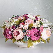 Цветы и флористика handmade. Livemaster - original item Floral arrangement.Interior arrangement.Peonies.. Handmade.