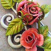Для дома и интерьера handmade. Livemaster - original item Mirror in wrought iron frame