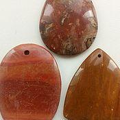 Материалы для творчества handmade. Livemaster - original item Pendant-a pendant made of Jasper(3pcs).. Handmade.