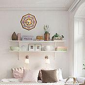 Для дома и интерьера handmade. Livemaster - original item Wall clock round EKO mandala