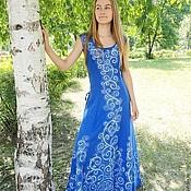 Одежда ручной работы. Ярмарка Мастеров - ручная работа Веринея для Екатерины синее. Handmade.