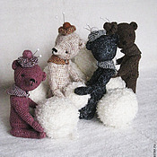 Куклы и игрушки ручной работы. Ярмарка Мастеров - ручная работа Твидовые мишки. Handmade.