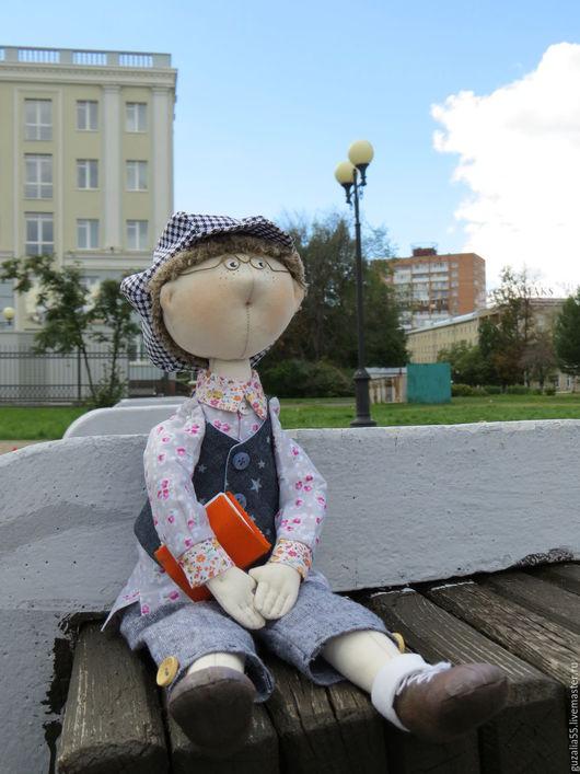 Куклы тыквоголовки ручной работы. Ярмарка Мастеров - ручная работа. Купить Кукла тильда мальчик Гриша. Handmade. Комбинированный, кукла