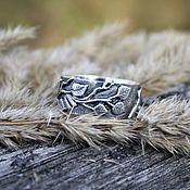 handmade. Livemaster - original item Ring birch branch silver 925. Handmade.