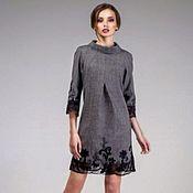 Одежда handmade. Livemaster - original item Dress-tweed with lace. Handmade.