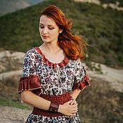 Одежда handmade. Livemaster - original item Boho linen dress