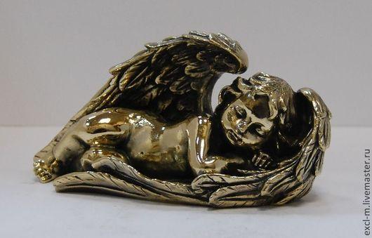 """Миниатюра ручной работы. Ярмарка Мастеров - ручная работа. Купить Статуэтка """"Спящая девочка-ангел"""". Handmade. Ангел, девочка, латунь"""
