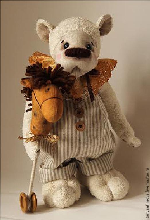 """Игрушки животные, ручной работы. Ярмарка Мастеров - ручная работа. Купить Мягкая текстильная игрушка из льна """"Мишка Тимка"""".. Handmade."""