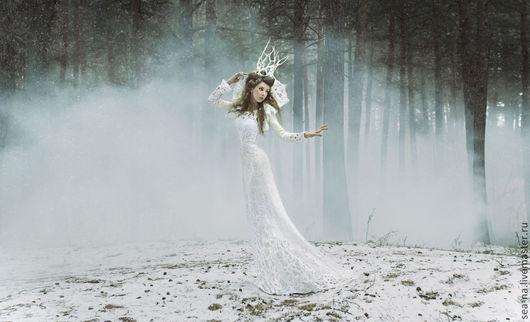 Платья ручной работы. Ярмарка Мастеров - ручная работа. Купить Desire. Handmade. Белый, нуновойлок, волокна шёлка